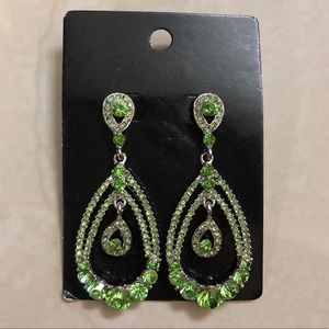 Brazilian green earrings